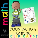Counting to 5 Activity Clip Cards