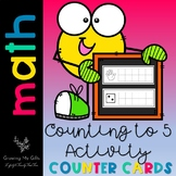 Counting to 5 Activity Counter Cards