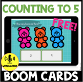 Counting to 5 BOOM CARDS - FREEBIE!