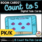 Counting to 5 Boom Cards™ Pre-K and Kindergarten Math Dist