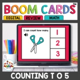 Counting to 5 Digital Task Cards Boom