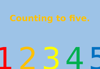 Counting to 5 Interactive Flip Book