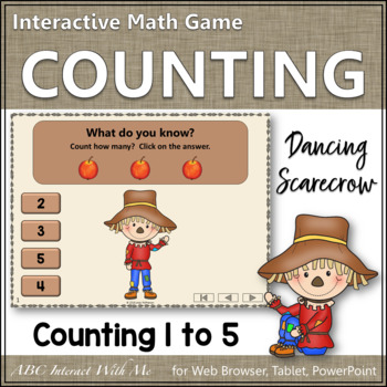 Counting to 5 Interactive Math Game ~ Number Sense Game {Dancing Scarecrow}