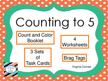 Counting to 5--Task Cards and Much More