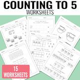 Counting to 5 Worksheets - Kindergarten