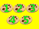 Counting to 5 with Chocolate Chip Cookies