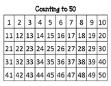 Counting to 50 Number Chart