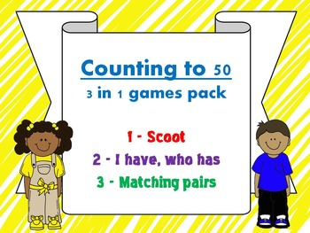 Counting to 50 - THREE IN ONE GAMES PACK