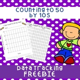 Counting to 50 by tens Data Tracker Freebie