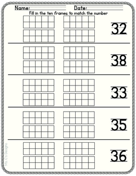 Counting to 50 with Ten Frames