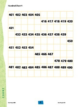 Counting to 500 With Hundred Grids Freebie