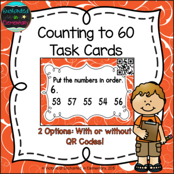 Counting to 60 Task Cards: 1st Grade Common Core: Extend t