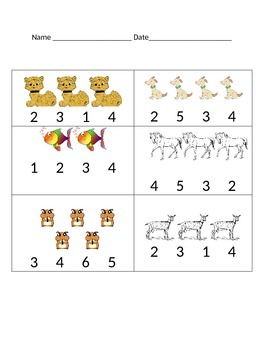 Counting to Five Worksheet
