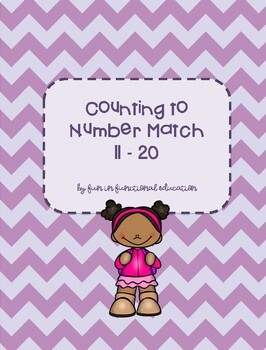 Counting to Number Match 11-20 File Folder Game