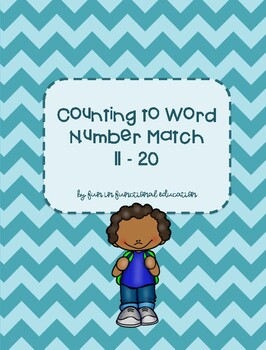 Counting to Number-Word Match 11-20 File Folder Game