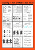 Counting to Ten Printables for Kindies