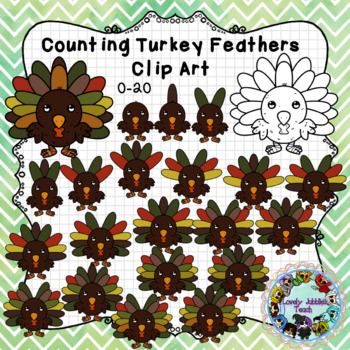 Counting to Twenty: Turkey Clip Art