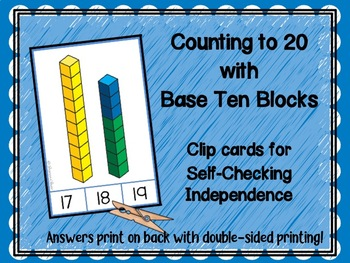 Counting to Twenty with Base Ten and Unit Blocks