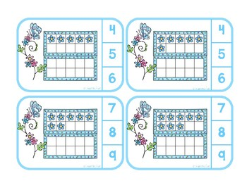 Counting to Twenty with Double Ten Frames - Spring