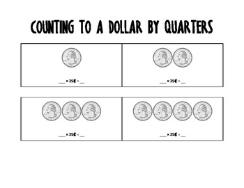 Counting to a Dollar by Dimes and Quarters