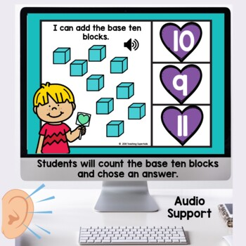 Counting using Base Ten Blocks Boom Cards