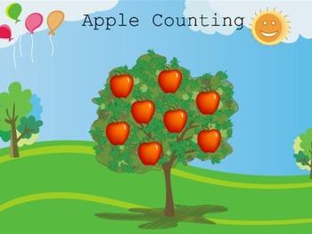 Counting with Apples - Kindergarten / Preschool Mimio