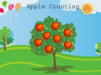 Counting with Apples - Kindergarten / Preschool Mimio