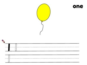 Counting with Balloons 1 - 10