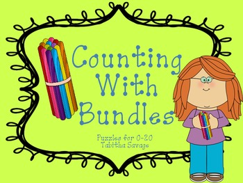 Counting with Bundles- A puzzle center for numbers 0-20