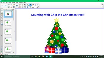 Counting with Chip the Christmas tree SMARTboard activity!!!
