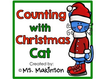 Counting with Christmas Cat - Emergent Reader