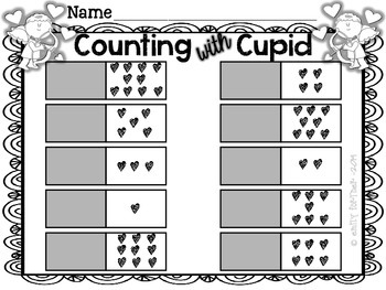 Counting with Cupid - Valentine's Day Number Word Puzzles (1-10)