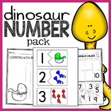 Dinosaur Unit - Number Worksheets, Math Centers, Flash Cards, and Activities!