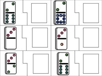 1-10 counting with dominoes