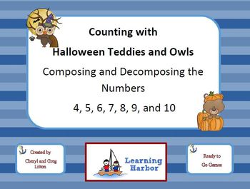 Counting with Halloween Teddies and Owls - Composing and Decomposing Numbers