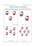 FREEBIE Counting with Hello Kitty 1-10 (editable)