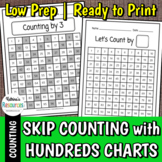 Skip Counting by Numbers Up to 10 with Hundreds Charts