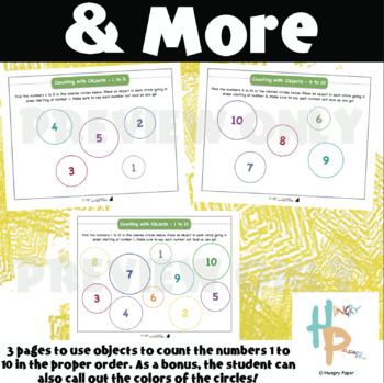 Counting with Objects Printable Mats