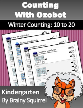 Counting with Ozobot - Winter Counting: 10 to 20