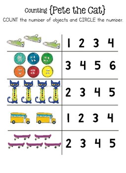 Counting with Pete the Cat