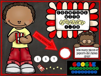 Counting with Popcorn 1-20