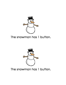 Counting with Snowman Emergent Reader