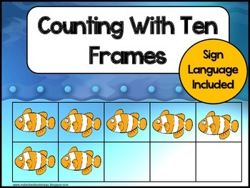 Counting with Ten Frames Ocean