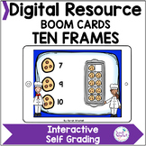 Counting with Ten Frames Boom Cards™ Distance Learning