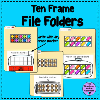 Counting with Ten Frames File Folders for Special Education