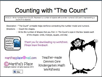 Counting with The Count