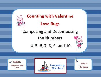 Counting with Valentine Love Bugs Composing and Decomposin