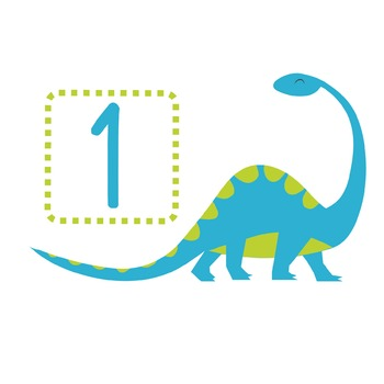 Counting with dinosaurs, dinosaur clipart, maths clipart, numbers