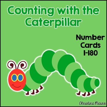 Counting with the Caterpillar {Number Cards 1-180}