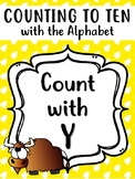 Counting with the Letter Y. Y is for Yak! Count to 10! Counting Worksheets.